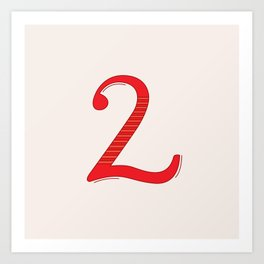 Number 2 - 36 Days of Type  Art Print