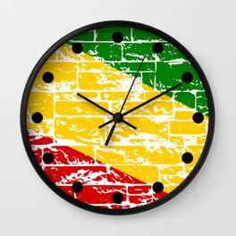 Rastafari Flag Wall Clock
