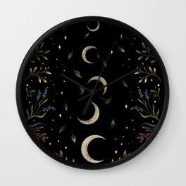 Crescent Moon Garden Wall Clock