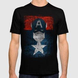 Yankee Captain grunge superhero T-shirt