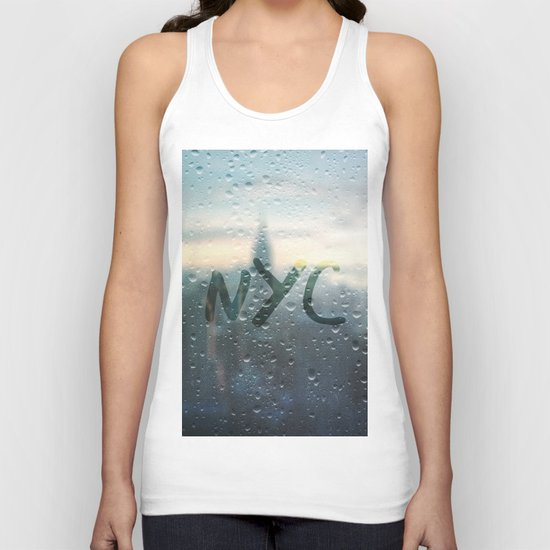 Rainy Day in NYC Unisex Tank Top