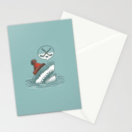 Hockey Shark Stationery Cards