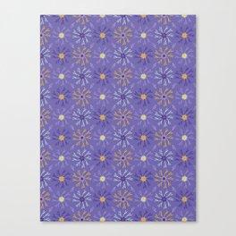 Flower Bloom Petals Vector Pattern Canvas Print