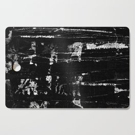 Distressed Grunge 102 in B&W Cutting Board