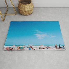 Beach large blue sky Rug