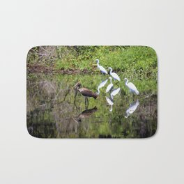 Egrets And Ibis Bath Mat