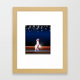 Olivia Newton-John - Xanadu movie 80s  by retropopdisco Framed Art Print