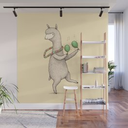 Alpaca on Maracas Wall Mural