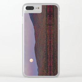 Autumn Mountain Moonrise Clear iPhone Case
