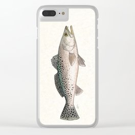 """""""Spotted Sea Trout"""" by Amber Marine - Cynoscion nebulosus ~Watercolor Illustration, (Copyright 2013) Clear iPhone Case"""