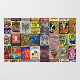 Grateful Dead Concert Posters Rug