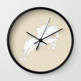 Showjumper in Brown Wall Clock