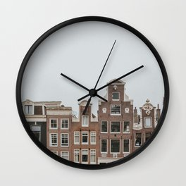 Amsterdam Charming Houses Wall Clock