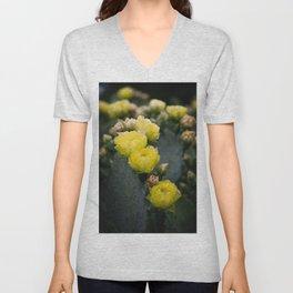 Cactus Blooms II Unisex V-Neck