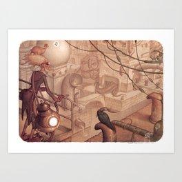 Steamtown Art Print