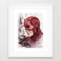 daredevil Framed Art Prints featuring Daredevil by rchaem