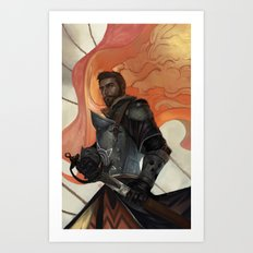 Knight Protector Art Print