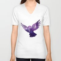 hedwig V-neck T-shirts featuring Hedwig by KeriiLynne