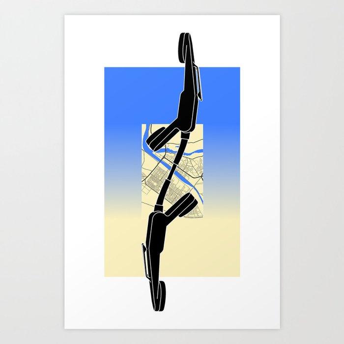 I wish that heaven had a telephone (Lance) Art Print