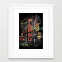 lost in translation Framed Art Prints featuring Lost in Translation by Livio Bernardo