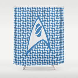Science of Houndstooth Shower Curtain