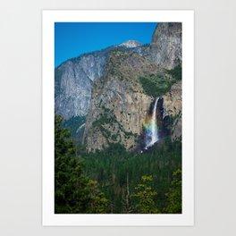 Yosemite Pride ( Bridalveil Fall ) Art Print