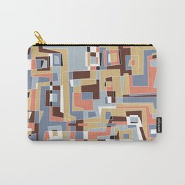 Midcentury Abstract Shapes Carry-All Pouch