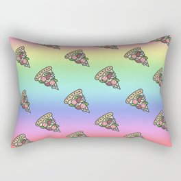 Rainbow pizza Rectangular Pillow