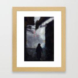 Street Lightning Framed Art Print