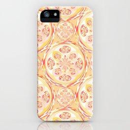 Geometric pizza pattern iPhone Case
