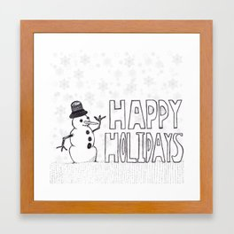 Snowman (Happy Holidays) Framed Art Print