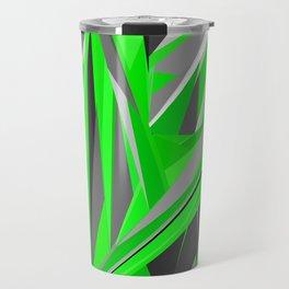 Grey-green geometry Travel Mug