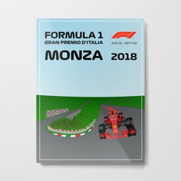 Formula 1 Monza GP Poster 2018 Metal Print