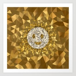 POLYNOID Smiley / Gold Edition Art Print