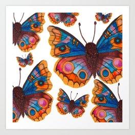 Blue Buckeye Butterflies Art Print