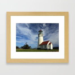 The Lighthouse At Cape Blanco Framed Art Print
