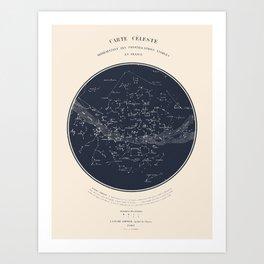Carte Celeste Art Print