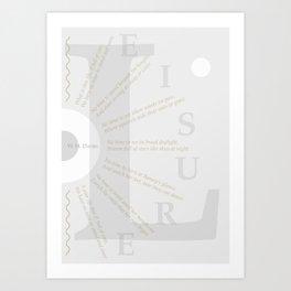LEISURE I Art Print