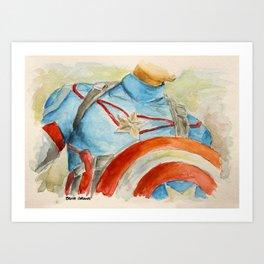 Capt America - Fictional Superhero Art Print