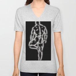Standing Male Unisex V-Neck