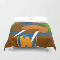 walrus Duvet Covers featuring Walrus by subpatch