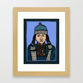 Mongolian Girl Framed Art Print