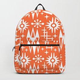 Mid Century Modern Atomic Space Age Pattern Orange Backpack