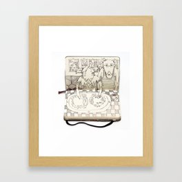 The Last Supper (Pigs) Framed Art Print