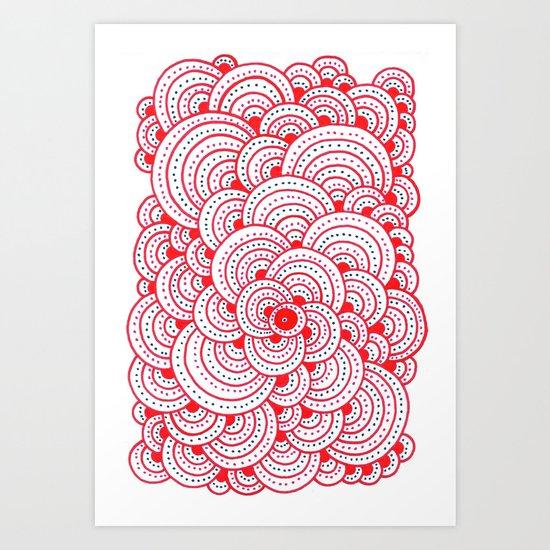 Dot Cluster 2 Art Print
