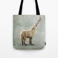 howl Tote Bags featuring howl by Seamless