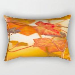 Orange Leaves of Ivy - Autumn Scene #decor #society6 #buyart Rectangular Pillow
