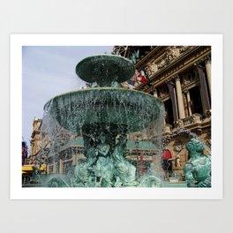 Las Vegas Fountain Art Print
