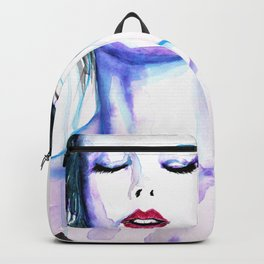 Exhale Original Artwork in Watecolours and Ink Backpack