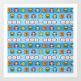 Pixel retro game Art Print